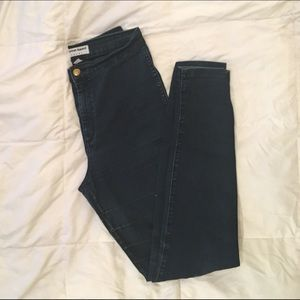 High Waisted Easy Jean Skinny in Blue